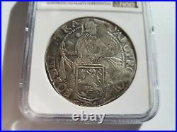 1614 Netherlands Silver New York Lion Dollar NGC AU 53 Daalder Dutch Utrecht