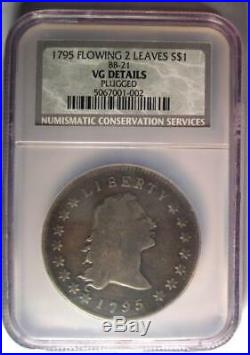 1795 Flowing Hair Silver Dollar ($1 Coin) Certified NGC VG Detail Rare Coin