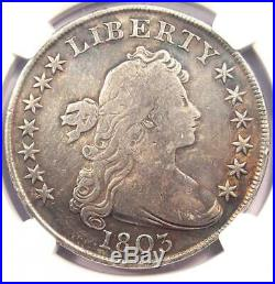 1803 Draped Bust Silver Dollar $1 Certified NGC VG Details Rare Coin