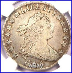 1806 Draped Bust Half Dollar 50C NGC VF Details Rare Certified Coin