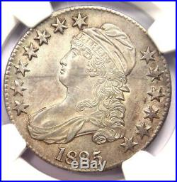 1825 Capped Bust Half Dollar 50C Coin NGC Uncirculated Details (MS UNC)