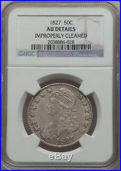 1827 50C Capped Bust Half Dollar NGC AU DETAILS #2038886-028 EYE APPEAL