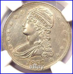 1837 Capped Bust Half Dollar 50C NGC AU Details Rare Certified Coin