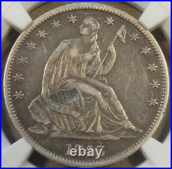 1843 Seated Liberty Half Dollar 50c NGC Certified XF40