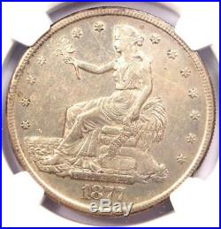 1877-S Trade Silver Dollar T$1 Certified NGC AU Details Rare Certified Coin