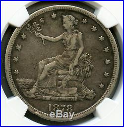 1878 S Trade Silver Dollar NGC VF 25