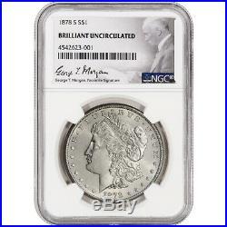 1878-S US Morgan Silver Dollar $1 NGC Brilliant Uncirculated