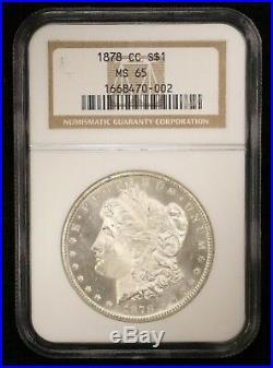 1878-cc Morgan Silver Dollar Ngc Ms65! 02279