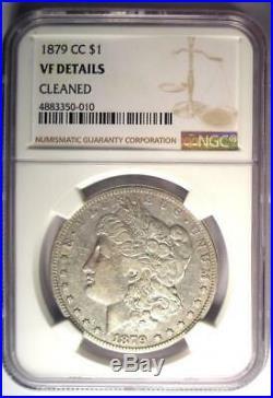 1879-CC Morgan Silver Dollar $1 NGC VF Details Rare Carson City Coin