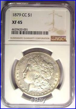 1879-CC Morgan Silver Dollar $1 NGC XF45 (EF45) PQ Carson City Looks AU
