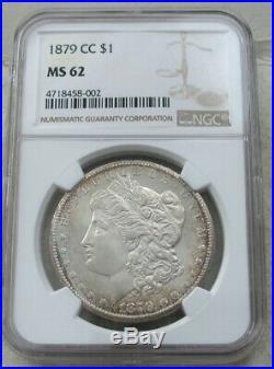 1879-cc Morgan Silver Dollar Ngc Ms 62