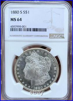1880 S Morgan Silver Dollar! NGCMS64Near PL/DMPL2 AvailableYou Choose