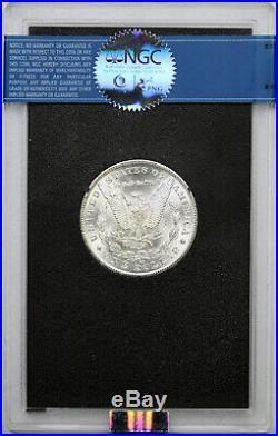 1881-CC Morgan Dollar $1 MS 63 NGC GSA Hoard Box and COA