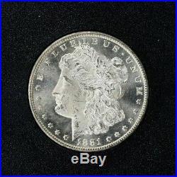 1881-CC Morgan Silver Dollar, NGC MS 64 in GSA holder