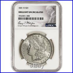 1881-O US Morgan Silver Dollar $1 NGC Brilliant Uncirculated