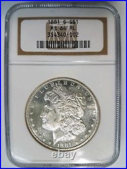 1881 S Silver Morgan Dollar NGC MS 64 PL Mirrors Looks Proof Like Graded Coin