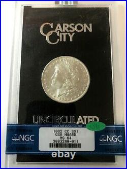 1882-CC Morgan Dollar GSA HOARD S$1 NGC MS64 CAC. Cert. #3883240-011