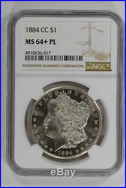 1884 CC Morgan Silver Dollar $1 Ngc Ms 64+ Pl Proof Like Just Miss Dmpl (017)