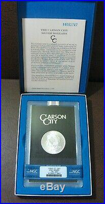 1884 CC Morgan Silver Dollar NGC MS64+ GSA
