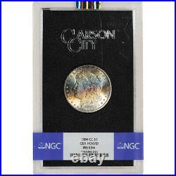 1884 CC US Morgan Silver Dollar $1 GSA Holder Mixed NGC MS63 Star Grade