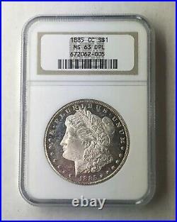 1885 CC Morgan Silver Dollar $1 Key Date Carson City NGC MS63 DPL Scarce Rare