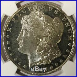 1886 P Morgan Dollar NGC MS60DPL, DMPL, Lite Cameo But 23 Mirrors Undergraded