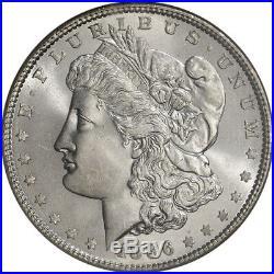 1886 US Morgan Silver Dollar $1 NGC MS65