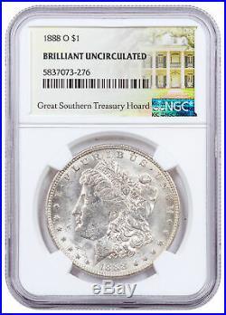 1888 O Morgan Silver Dollar Great Southern Hoard NGC BU Treasury Hoard SKU60955