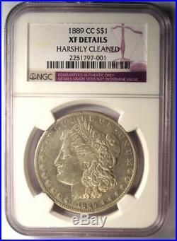 1889-CC Morgan Silver Dollar $1 NGC XF Details (EF) Rare Carson City Coin