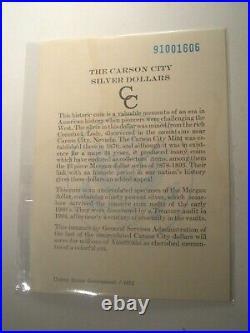 1891-CC GSA Spitting Eagle TOP 100 NGC MS62 Silver MORGAN Dollar $1 VAM 3