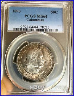1893 Columbian Commemorative Silver Half Dollar NGC MS-64 Mint State 64