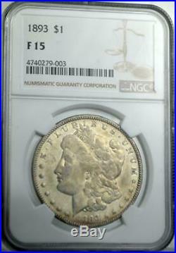 1893 Morgan Dollar NGC F15