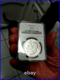 1893 cc NGC AU55 Morgan Dollar