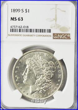 1899 S $1 Morgan Silver One Dollar Rare San Francisco MS63 Uncirculated