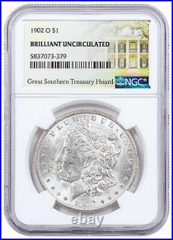 1902 O Morgan Silver Dollar Great Southern Hoard NGC BU Treasury Hoard SKU60959