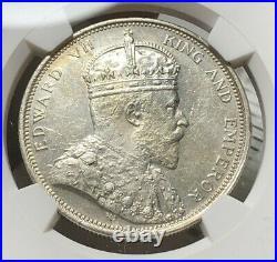1904-B Straits Settlements $1 Dollar Silver NGC MS62
