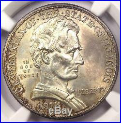 1918 Lincoln Illinois Half Dollar 50C NGC Uncirculated Details (UNC MS BU)