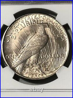 1921 Peace Dollar High Relief NGC MS64 Excellent Patina & Luster PQ