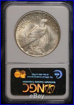 1921 Peace Dollar NGC MS64 Great Eye Appeal Nice Luster Nice Strike