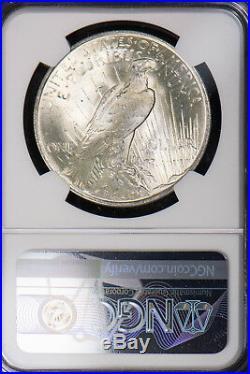 1923 PEACE $1 SILVER DOLLAR NGC MS 65 HIGH GRADE UNC Lot#694