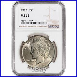 1923 US Peace Silver Dollar $1 NGC MS64