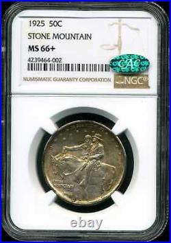 1925 50C Stone Mountain Commemorative Half Dollar MS66+ NGC 4239464-002 CAC