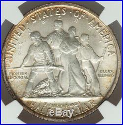 1936 50c Elgin Commemorative Silver Half Dollar NGC MS66, RIM TONES ALL AROUND
