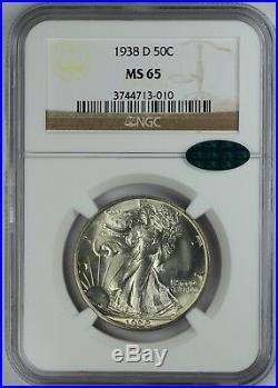 1938-D 50c Walking Liberty Half Dollar NGC MS 65 CAC