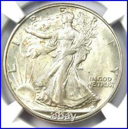 1938-D Walking Liberty Half Dollar 50C NGC AU58 Rare Date Looks MS/UNC