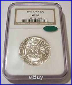 1946 Iowa Statehood Centennial Commemorative Silver Half Dollar MS66 NGC CAC