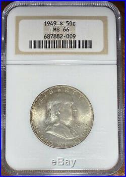 1949-S Franklin Half Dollar NGC MS-66