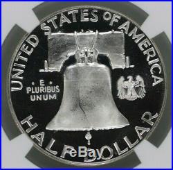 1956 Proof Franklin Half Dollar Type 2 50c Ngc Cert Pf Pr 67 Ultra Cameo (001)