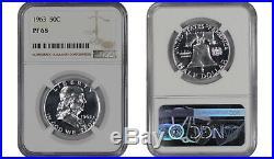 1956 Ty2 1963 Proof Franklin Half Dollar Ngc Certified Pr Pf 68 8 Slab Lot