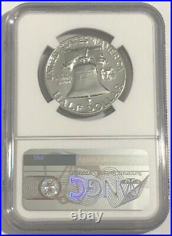1957 Ngc Pf68 Silver Proof Franklin Half Dollar Bright White Coin 50c